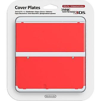 Placa de cobertura oficial da Nintendo para novo 3DS vermelho