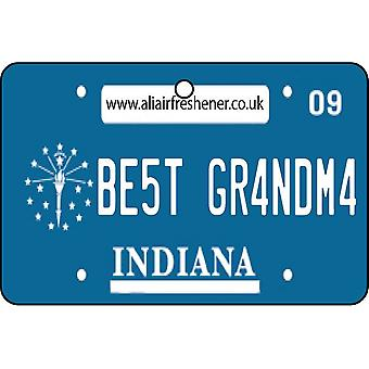 Indiana - Best Grandma License Plate Car Air Freshener