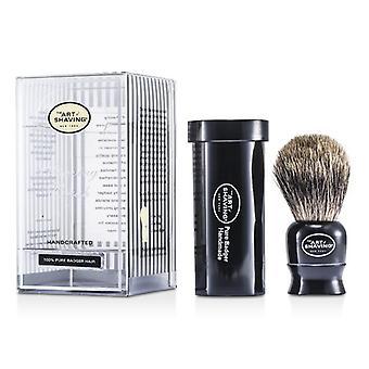The Art Of Shaving Travel Pure Badger - Black - 1pc