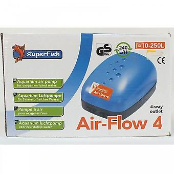 Superfish Air-Flow 4 Ultra safe fish aquarium air pump