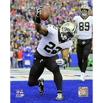 Mark Ingram 2017 Action Photo Print