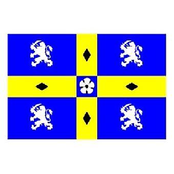 Durham County vlag 5 ft x 3 ft met oogjes voor verkeerd-om