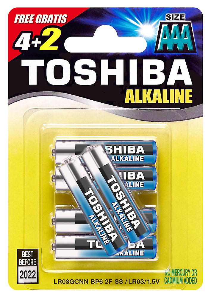 6 x TOSHIBA Extra Power AAA Micro, LR03 Alkaline Batteries 1,5V, 6er-Pack