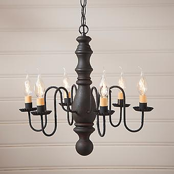 Manassas Chandelier in Hartford Black over Red