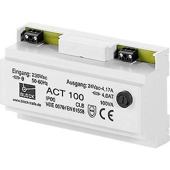 Block ACT 25 Sicherheitstransformator 1 x 230 V 1 x 24 V AC 25 VA 1,041 A