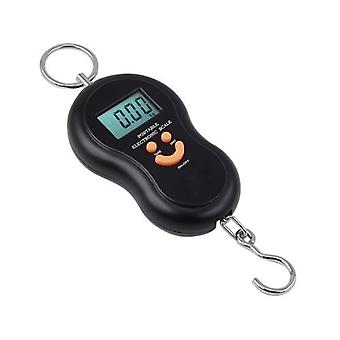 Black Travel 0.01g to 40kg Digital Hanging Scales for LuggageBagSuitcaseKitchen