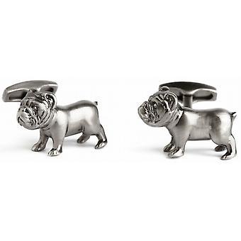Simon Carter Pursuits Bulldog Cufflinks - Silver