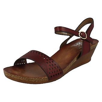 Ladies jordnära inklämd sommar sandaler F10698
