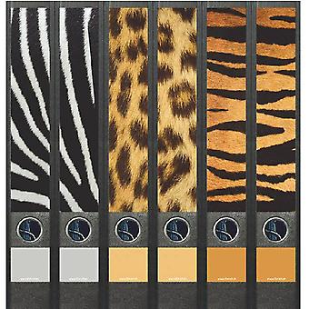 Spine label animal skin 6 labels