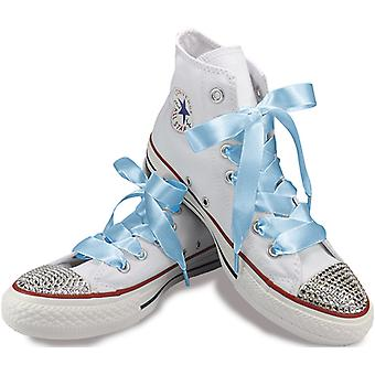 Baby Blue Satin Laces Laces