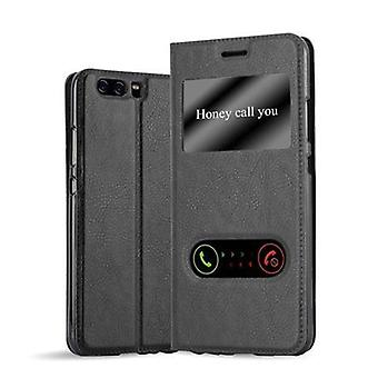 Cadorabo Case case Cover per Huawei P10 Case Cover - Custodia del telefono con chiusura magnetica, funzione Stand e 2 Viewing Windows - Case Cover Case Case Case Book Folding Style