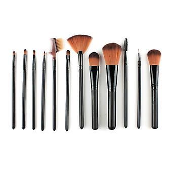 Makeup set with brushes and comb