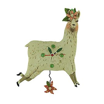 Allen Designs Llama Love Pendulum Wall Clock