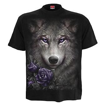 Spiral Wolf Roses T-Shirt