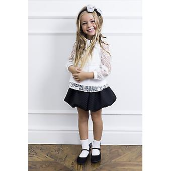 Black balloon girl skirt