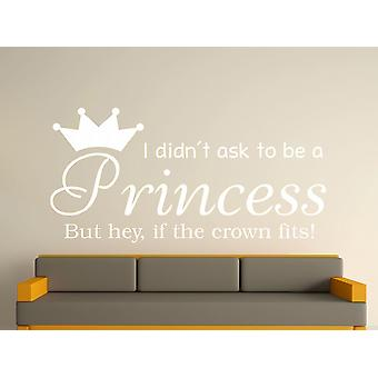 A Princess v2 Wall Art Sticker - weiß zu sein
