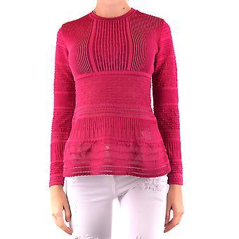Missoni Ezbc091008 Women's Fuchsia Cotton Sweater