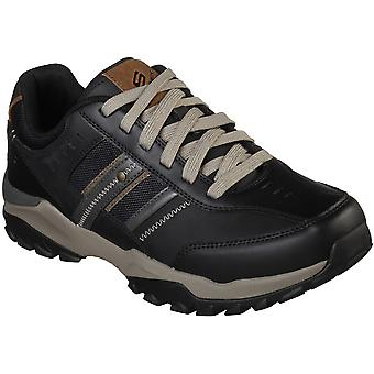 Skechers Mens Henrick Delwood Leather Lace Up Trainers