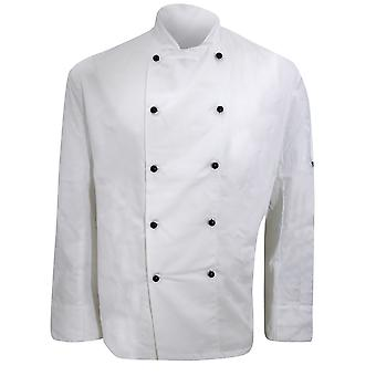 Dennys Mens Lightweight Long Sleeve Chefs Jacket / Chefswear (Pack of 2)