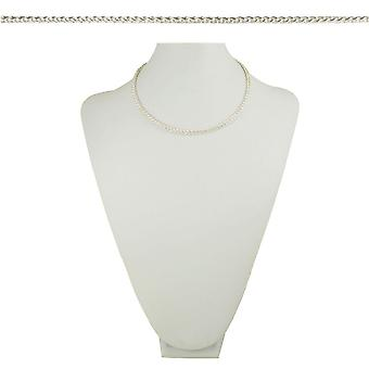 Eternal Collection Cavallino Woven Pony Tail Link 18 Inch Silver Tone Necklace