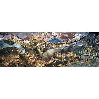 Le Démon dégringolé, Mikhail Vrubel, 80x28cm
