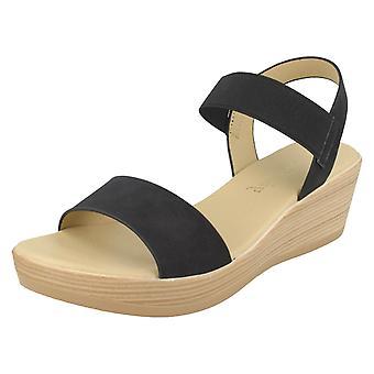 Mesdames Savannah milieu Wedge Sandals F10878