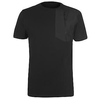 883 politie Mens sterrenhemel T Shirt bemanning hals Tee Top korte mouw katoen Zip Regular