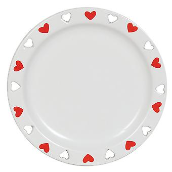 Aroma Cut Out Heart Candle Plate, Red