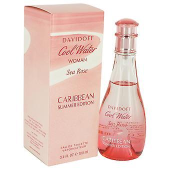 Davidoff Cool Water kvinde havet Rose Caribien Summer Edition Eau de Toilette 100ml EDT Spray