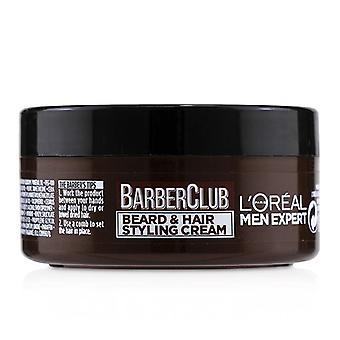L'oreal Men Expert Barber Club Beard & Hair Styling Cream - 75ml/2.5oz
