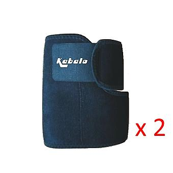 Kabalo Black Adjustable Neoprene Elbow Support Brace - Aids Joint and Muscle Recovery Physio & Fitness Double Pack