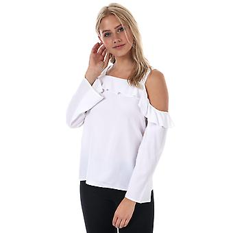 Womens Only Alva Cold Shoulder Top In Bright White