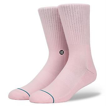 Stance Uncommon Solids Mens Socks ~ Icon pastel pink (size L)