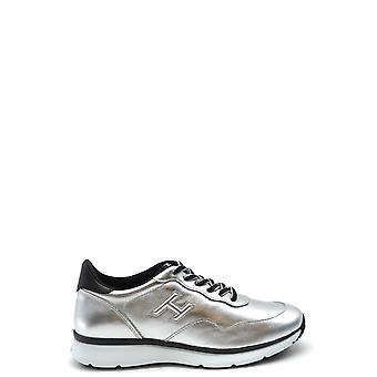 Hogan Ezbc030145 Women's Silver Leather Sneakers