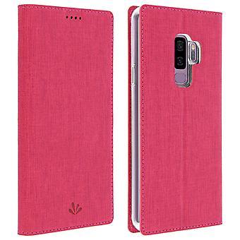 Window flip case, standing case by Vili for Samsung Galaxy S9 Plus - Pink