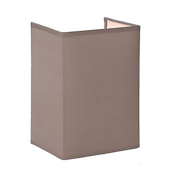 Lucide Coral Cottage Rectangle Cotton Taupe Wall Light