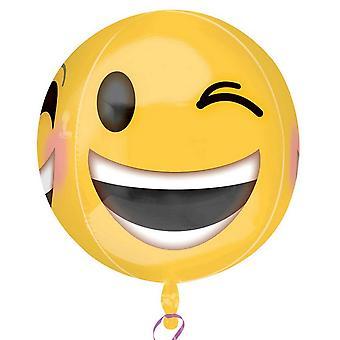 Anagramma ammiccante Emoji Supershape Orbz Round palloncino