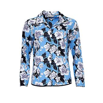 Cyberjammies 4196 Women's Milly Blue Mix Floral Cotton Pyjama Top