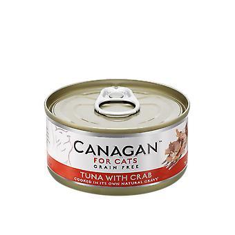 蟹猫ウェット フード 75 g マグロの Canagan することができます - 75 g 缶