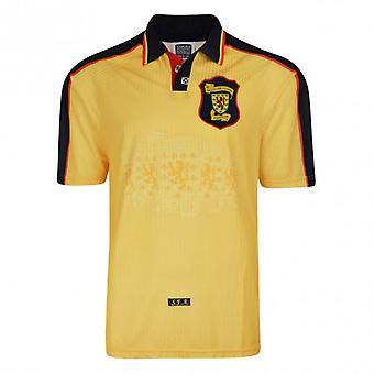 Sorteo de goles Escocia 1998 Finales de la Copa Del Mundo Away Camiseta de fútbol retro