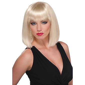 Vibe Bob Blonde Fransen Super Model Frauen Kostüm Perücke