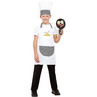 Kokki lasten puku Unisex valkoinen ESOn hattu ja Pan valmistettu EVA-muovista