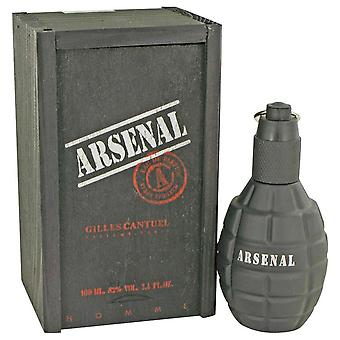 Arsenal black eau de parfum spray by gilles cantuel 440204 100 ml