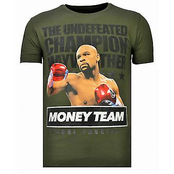Money Team Champ-Rhinestone T-shirt-Khaki