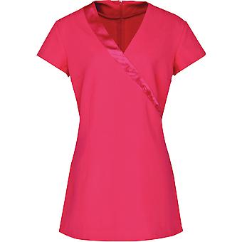 Premier - Rose Beauty And Spa Wrap Satin Trim Tunic