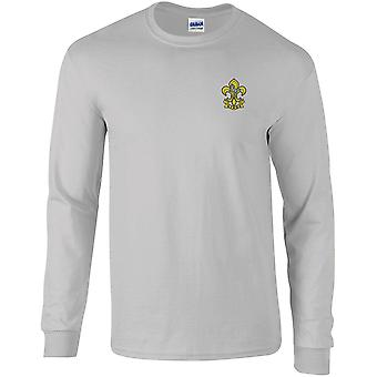 Kings Regiment - Licensed British Army Embroidered Long Sleeved T-Shirt