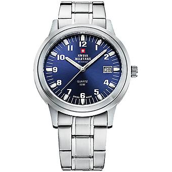 Swiss military chrono Quartz Analog Man Watch with SMP36004.08 Stainless Steel Bracelet