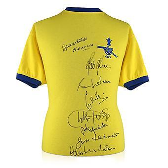 Arsenal 1971 FA Cup vinnerne Multi signert skjorte