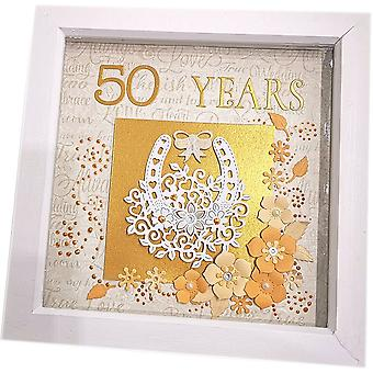 Handmade 50 Years Anniversary Frame by Sweet Pea Designs