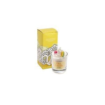 Bomb Cosmetics Piped Glass Candle - Pina Colada